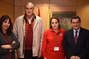 Responsables de Diputación y Cáritas.