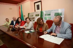 Firma para el inicio de las obras de la estación depuradora de Albuñol.