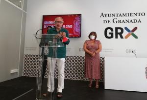 Joan Carles March, este viernes en el Ayuntamiento de Granada.