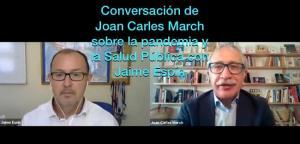 Joan Carles March conversa con Jaime Espín.