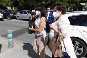 Juana Rivas entrando el pasado 11 de junio al Centro de Inserción Social Matilde Cantos en Granada.