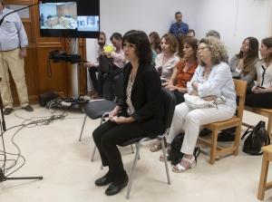 Juana Rivas, en la primera sesión del juicio.