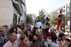 Imagen del desfile de la Tarasca el pasado año.