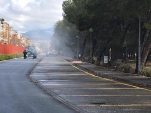 Limpieza de un municipio de Granada.