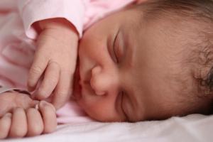 Imagen de una recién nacida.