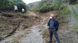 El concejal de Medio Ambiente y Agricultura en su visita a la zona de los trabajos.