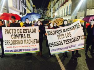 Una de las pancartas reivindicativas en la manifestación del 25N.