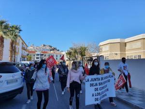 Protesta en Salobreña.