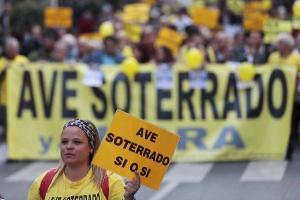 Una de las movilizaciones de la Marea Amarilla.