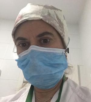 María Luz Flores, enfermera en el Hospital San Cecilio del PTS.