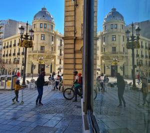 Imagen de Puerta Real, en la capital.