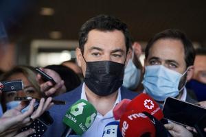 Juan Manuel Moreno, este viernes en Jaén.