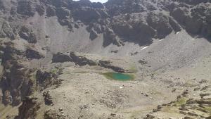 Los montañeros aseguraron que se encontraban en el entorno de la Laguna de la Mosca, en la imagen..