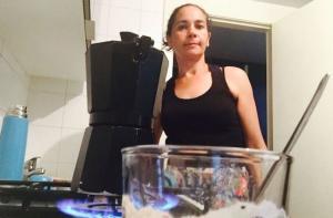 Nati, en su casa, el pasado miércoles cuando la presión ciudadana logró suspender el desahucio.