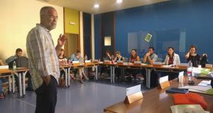 Natxo Oleaga, en uno de los cursos que impartía