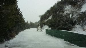 Imagen de la nieve en Peña Escrita.