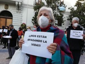 Protesta del pasado 17 de febrero por los cortes de luz.