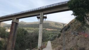 Detalle de las obras en Puente Quebrada, en Loja.