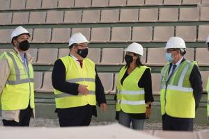 El presidente de la Diputación ha visitado las obras junto a la alcaldesa de Armilla y otros diputados provinciales.