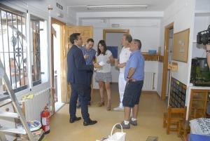 Cuenca, en su visita a las instalaciones.