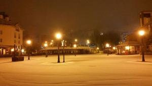 El manto blanco cubrió anoche Pardollano.