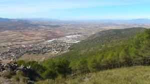 Vista de Padul desde una zona cercana a donde ocurrió la caída.