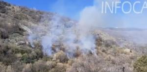 Imagen del fuego extraída de un vídeo del Infoca.