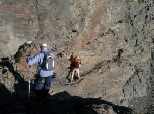 Montañeros en el Paso de los Guías, en una imagen de archivo.