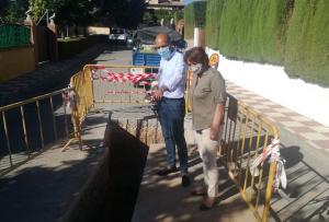 Visita a las obras de mejora de la red de saneamiento y aguas pluviales.