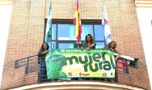 Pancarta del Día Internacional de la Mujer Rural en el Ayuntamiento.