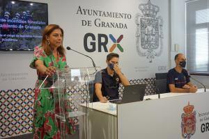 Raquel Ruz con Sergio Iglesias y Alejandro Alcantud.