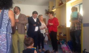 Autoridades inauguran el curso en la escuela infantil Portal de Belén, en la capital.