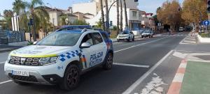 Contro de la Policía Local sexitana en los accesos a Almuñécar.