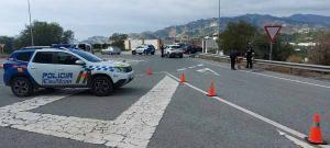 Control de la Policía Local de Almuñécar.