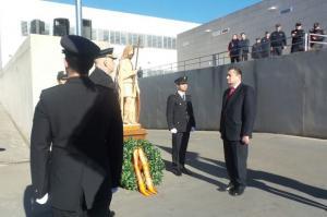 El delegado del Gobierno, en los actos conmemorativos.