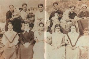 Grupo de mujeres de Trevélez, retratadas por el Dr. Olóriz en el verano de 1894. Casi ninguna de ellas comía jamón.