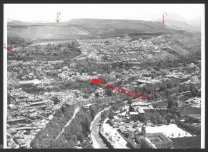 Las tres opciones para desviar el Darro al Genil bajo el Cerro del Sol y la Alhambra: 1, túnel desde Jesús del Valle a Cenes, por los Arquillos; 2, túnel desde Puente Mariano a Barranco Bermejo (frente a los túneles actuales del Serrallo); y 3, desde el Chapiz, bajo la Alhambra, los Mártires y Presidio de Belén para desembocar después del Puente Verde.