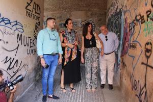 Representantes del PP en el Arco de las Pesas.