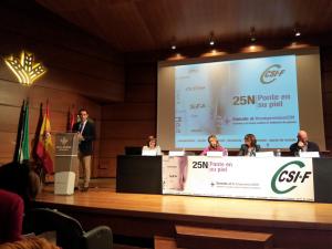 Inauguración de las jornadas organizadas por CSIF.