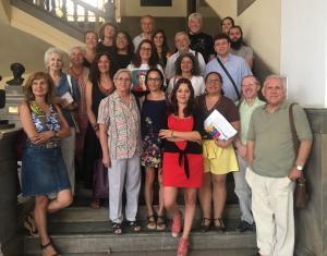 Jemi Sánchez con representantes de entidades sociales.
