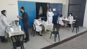 Imagen del operativo para el cribado celebrado en Almuñécar.