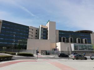 Hospital San Cecilio, este lunes.
