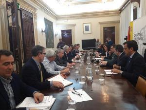 Reunión de coordinación de las administraciones.