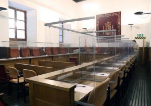 Sala donde se iba a celebrar el juicio.