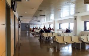 Sala de espera en consultas del Hospital del Campus.