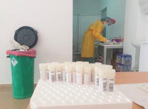 Sala de pruebas PCR para pacientes en el Hospital del PTS.