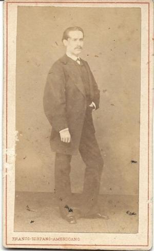 Salvador de la Cámara hacia 1874, cuando patentó su escalera de bomberos.