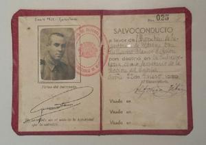 Salvoconducto incluido entre los documentos que se custodian ya en la Real Chancillería de Granada.