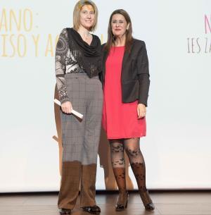 Natalia Díaz Estrella (izda.) y la consejera Sonia Gaya.