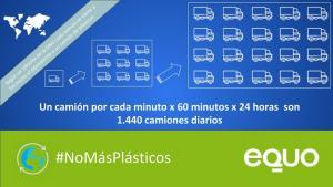 Cartel de la campaña de sensibilización sobre los plásticos en playas.